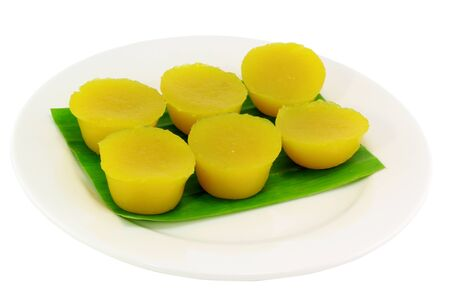 Traditional Thai dessert with Pumpkin photo