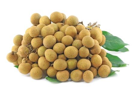 Longan Thai fruit on white background  photo