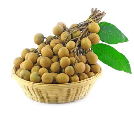 longan: Longan in the basket, Asian fruit