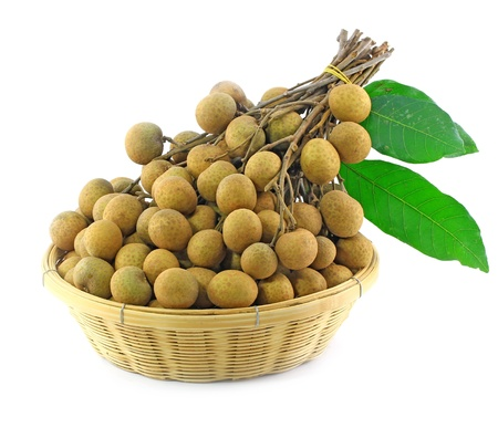 Longan in the basket, Asian fruit