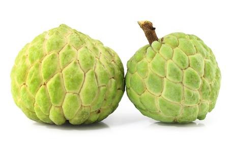 Custard apple isolated on white background