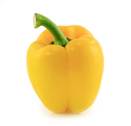 sweet yellow pepper isolated on white background  photo