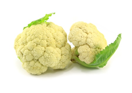 Fresh cauliflower isolated on white  Stock Photo - 17955097