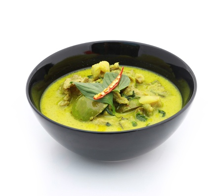 Green pork Curry , Thai cuisine Stock Photo - 17955083