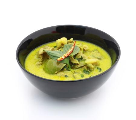 Green pork Curry , Thai cuisine Stock Photo - 17955083