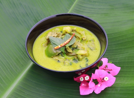 Green pork Curry , Thai cuisine Stock Photo - 17955095