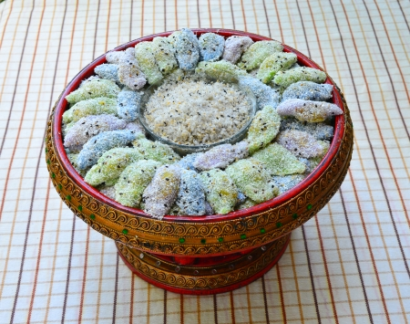 pap: Thai Sticky Rice Bean pudding, called  Tua pap   It