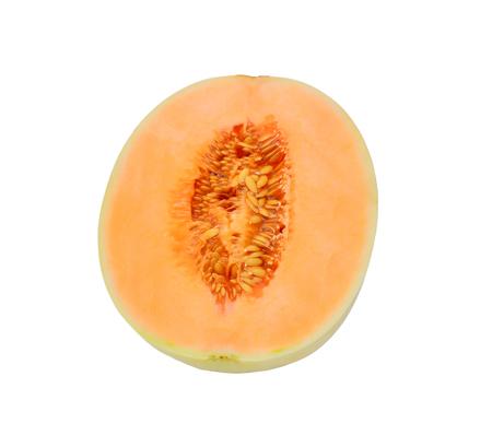 cantaloupe isolate on white background Stock Photo