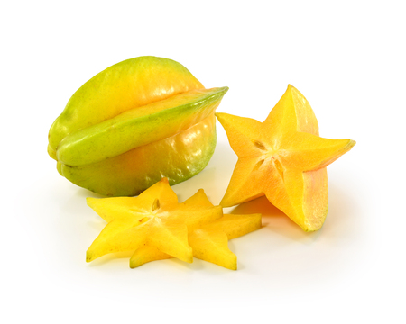 star apple on white background photo