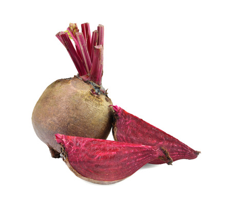 Beetroots isolated on white background photo
