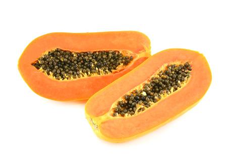 cutaneous: papaya isolate on white background