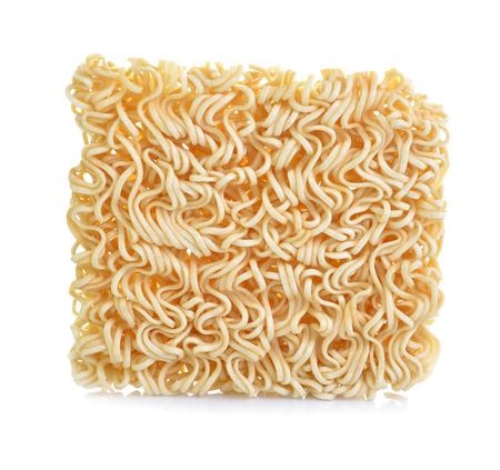 asian ramen instant noodles isolated on white background
