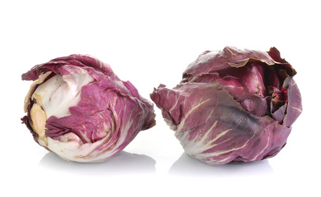 Red Cabbage Radicchio Rosso head isolated on white photo