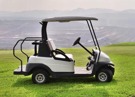 golf cart: Golf cart or club car at golf course  Stock Photo