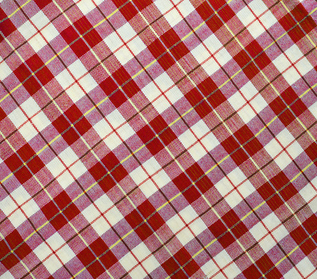 Fabric plaid texture. Cloth background photo