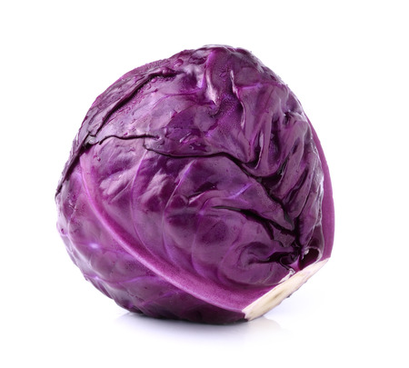Red cabbage violet cabbage isolated on white