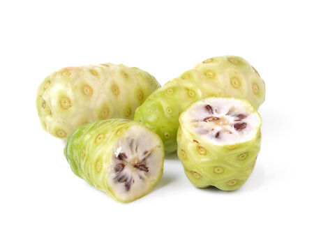 noni: Noni fruits on white background