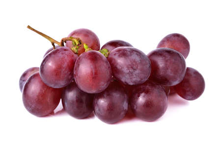 purple red grapes: red grape isolated on white