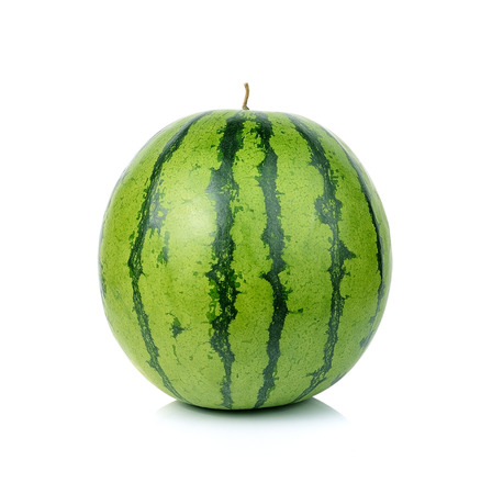 Wassermelone isoliert auf wei?