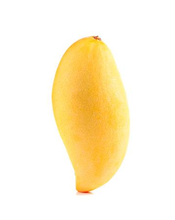 Yellow mango ,thai fruit favorite isolated on a white background