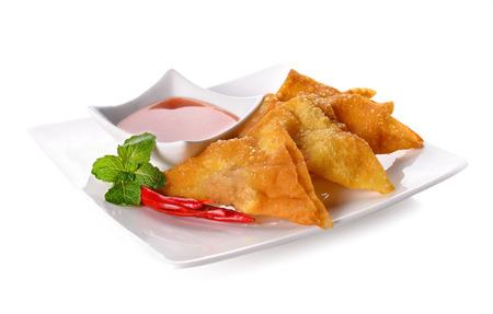 揚げ餃子: 中華料理、アジア料理。