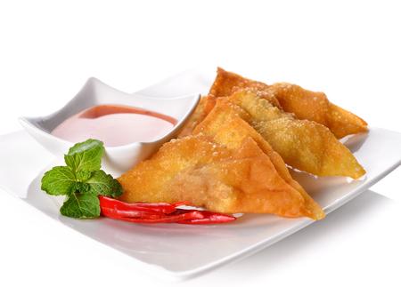 asia food: Fried dumplings :chinese food,asian food.