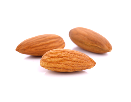 almond: almond nuts isolated on white background