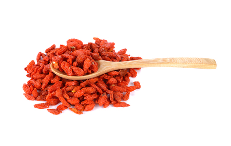 wolfberry: red dried goji berries ( Lycium Barbarum , Chainese wolfberry )