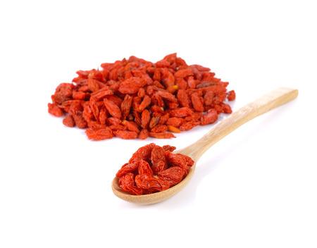 red dried goji berries ( Chinese wolf berry ) Stock Photo