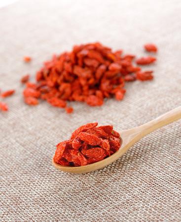 lycii: red dried goji berries  Chinese wolf berry