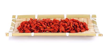 lycii: red dried goji berries ( Chinese wolf berry ) Stock Photo
