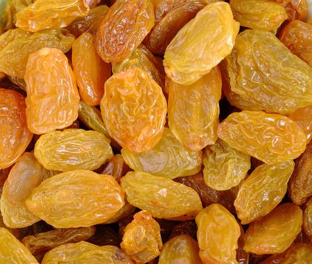 sultana: Yellow sultana raisins background