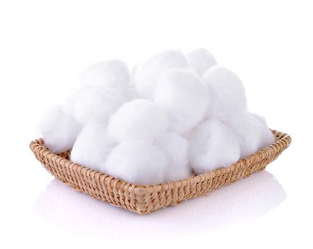 Cotton balls on white background