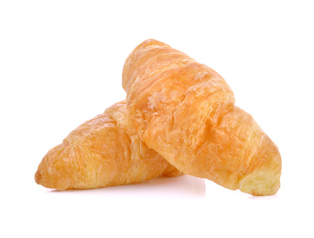 buttered: Croissant isolated on white background