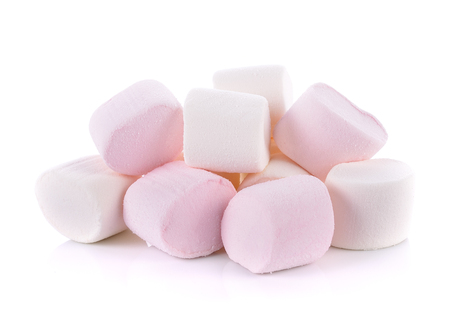 Marshmallow on white background