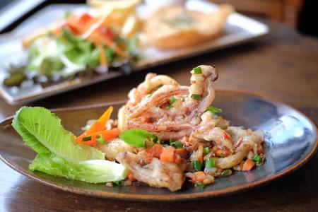 Spicy fried squid,Thai food