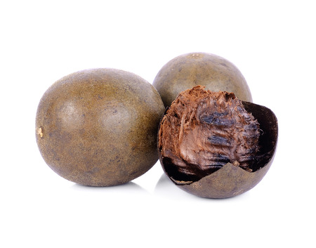 arhat fruit, Buddha fruit, monk fruit or longevity fruit on white