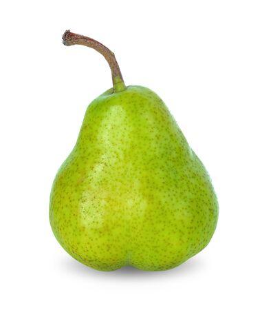 Fruta de pera sobre fondo blanco.