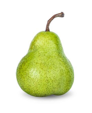 Pear fruit on white background