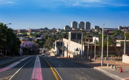 johannesburg: Skyline and panorama of Johannesburg, South Africa Editorial