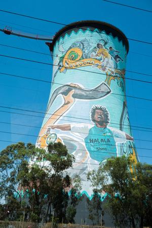 johannesburg: Paintings on Orlando Towers in Soweto, Johannesburg