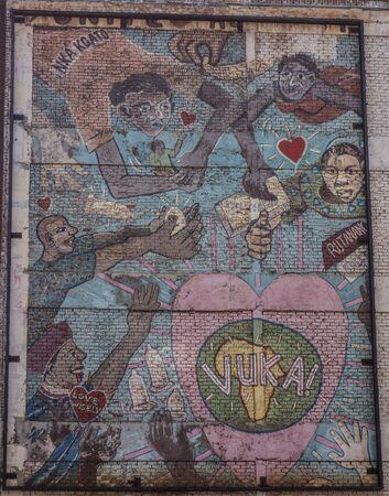 johannesburg: Street graffiti on a wall in Johannesburg, South Africa
