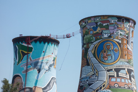 orlando: Paintings on Orlando Towers in Soweto, Johannesburg