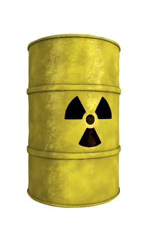 view of nuclear waste barrel photo