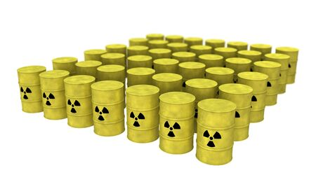 nuclear waste: view of nuclear waste barrel from top Stock Photo