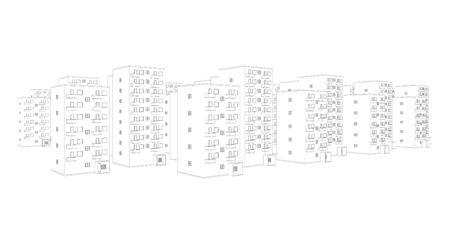 illustration of housing area Stock Illustration - 9797272