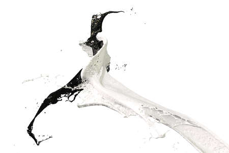 two splashes of wall color in white and black