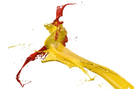 splashing wall color in yellow and red Stock Photo - 9925046