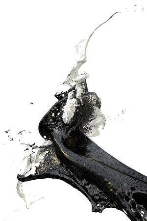 splashes of wall color in black and white