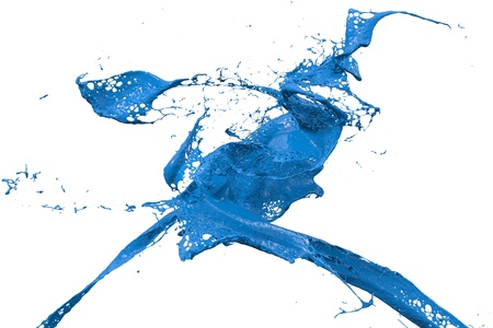 paint splat: two splashes of wall color in blue